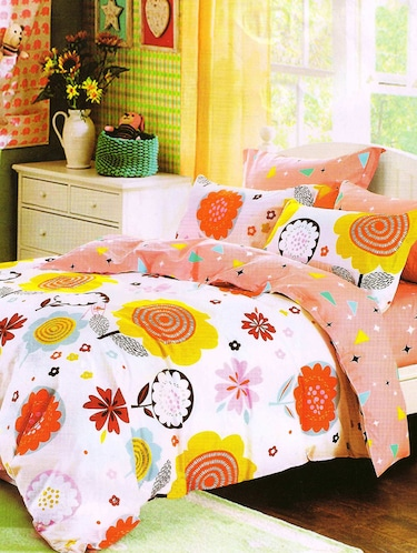 3D PolyCotton Double Bed Sheet with 2 Pillow Covers - 14886713 - Standard Image - 1