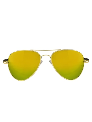 Amour Propre Yellow New Era Aviator Sunglass For Unisex - 14887413 - Standard Image - 1