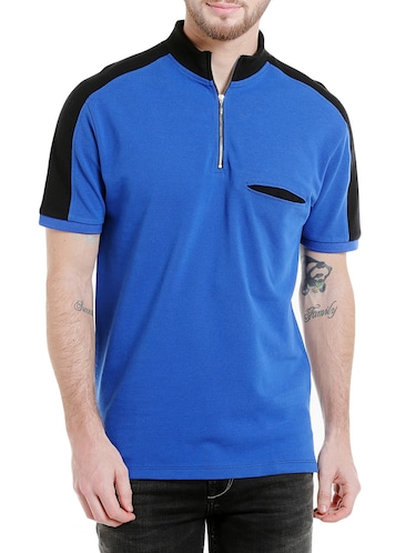 blue cotton pocket t-shirt - 14887434 - Standard Image - 1