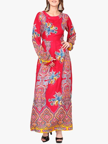red printed maxi dress - 14887791 - Standard Image - 1