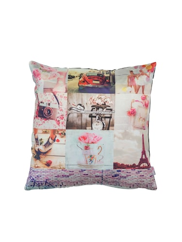 Pink Collage Cushion Cover - 14888027 - Standard Image - 1