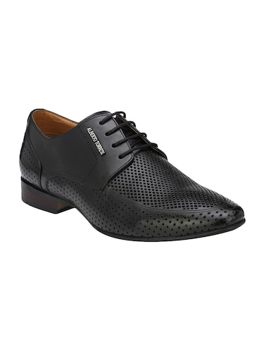 black Leather lace-up derby - 14888393 - Standard Image - 1