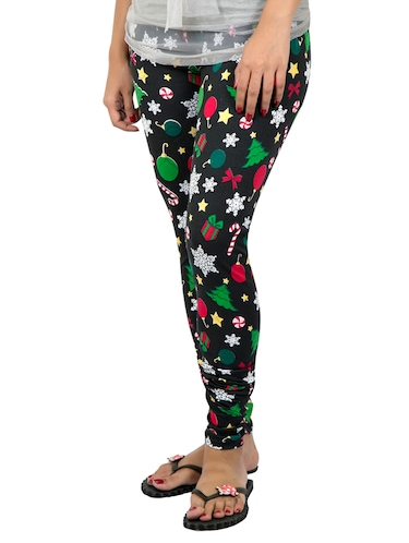 black printed leggings - 14888440 - Standard Image - 1