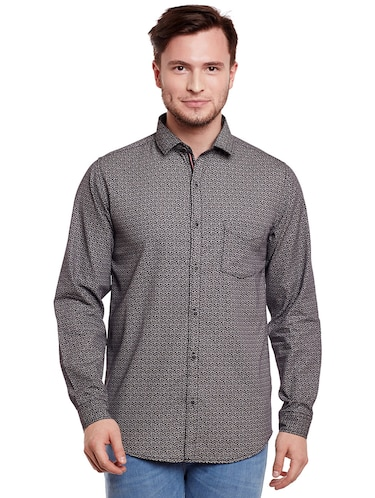 grey cotton casual shirt - 14888557 - Standard Image - 1
