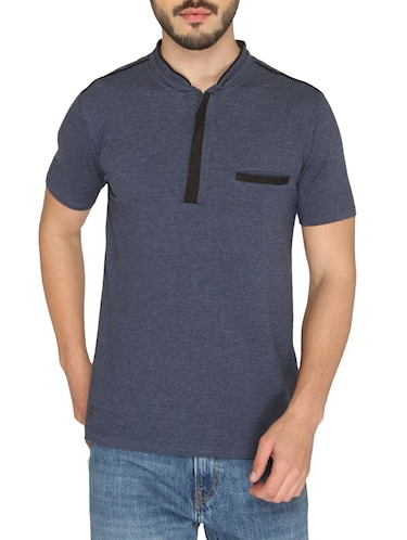 navy blue cotton pocket t-shirt - 14888871 - Standard Image - 1