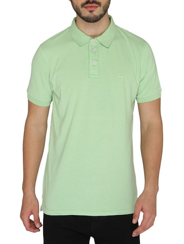 green cotton  t-shirt - 14888965 - Standard Image - 1
