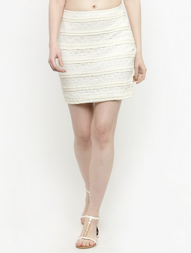 white lace pencil skirt - 14889443 - Standard Image - 1