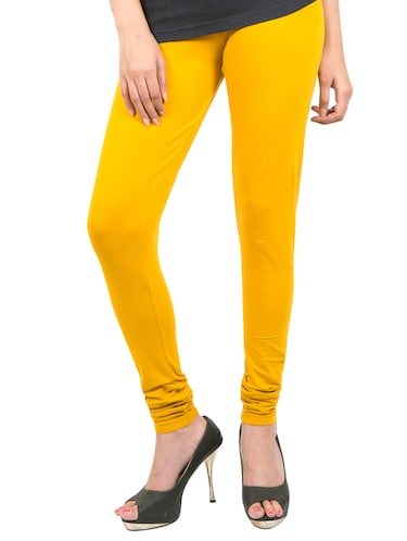 yellow solid leggings - 14889521 - Standard Image - 1