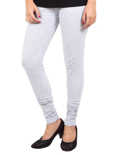 grey solid leggings - 14889533 - Standard Image - 1