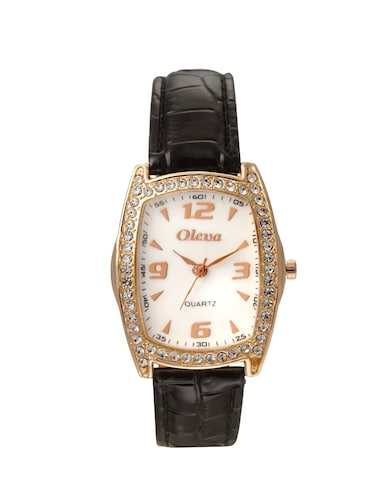 Oleva Premium Women's Leather Watch OPLW-28-BLACK-M - 14889632 - Standard Image - 1