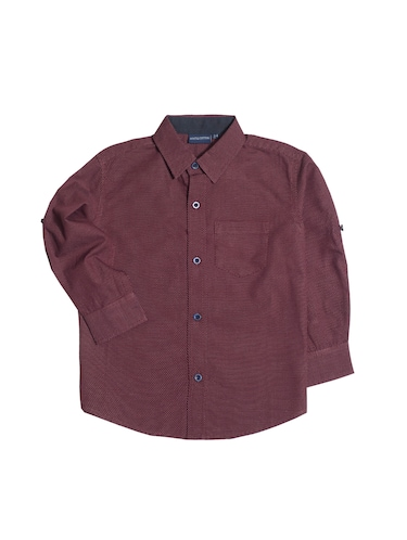 red cotton shirt - 14889988 - Standard Image - 1