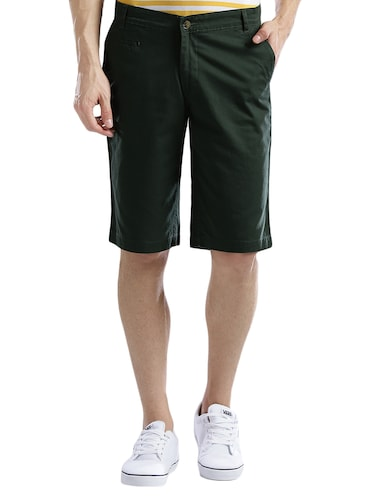 green cotton shorts - 14890547 - Standard Image - 1