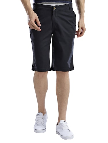 navy blue cotton shorts - 14890608 - Standard Image - 1