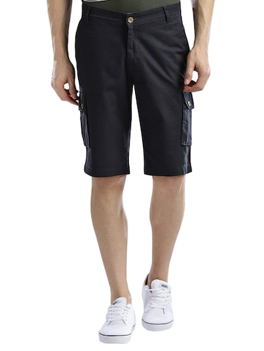 navy blue cotton shorts - 14890610 - Standard Image - 1