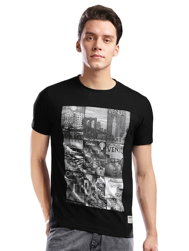 monochrome cotton  t-shirt - 14890633 - Standard Image - 1