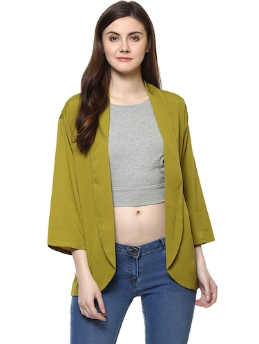green solid shrug - 14890708 - Standard Image - 1