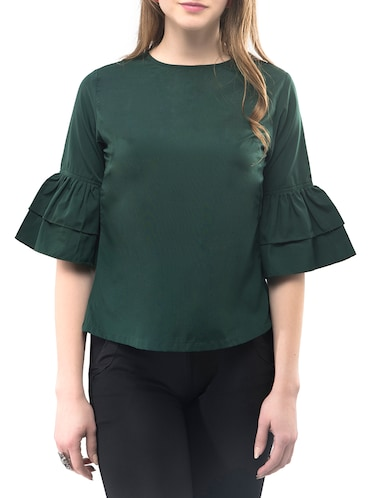 Frilled sleeved top - 14891637 - Standard Image - 1