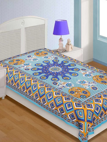 Cotton Traditional Jaipuri Single Bedsheet - 14891876 - Standard Image - 1