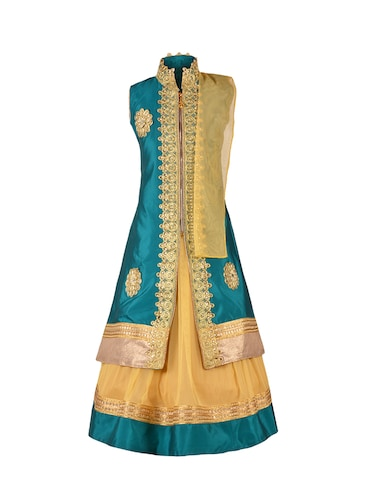 green silk blend lehnga choli - 14892912 - Standard Image - 1