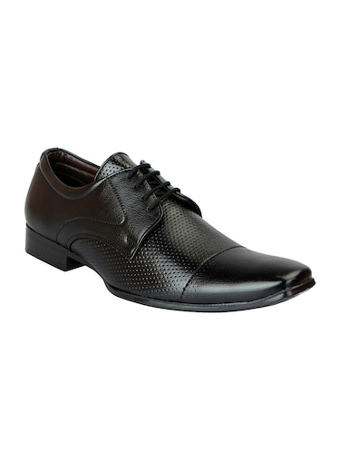 black Leather formal derby - 14893287 - Standard Image - 1