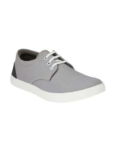 grey Canvas lace up sneaker - 14893357 - Standard Image - 1