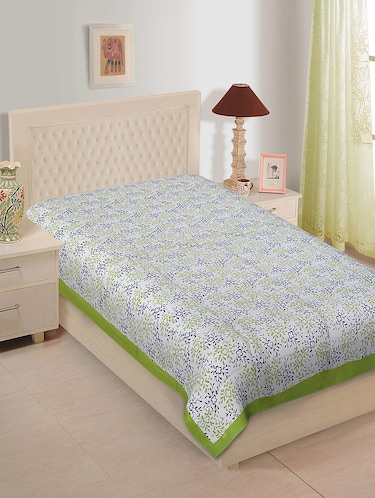 Ethnic Print Cotton Single Bedsheet - 14893393 - Standard Image - 1