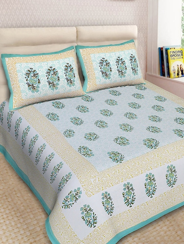 Cotton Printed Double Bedsheet With 2 Pillow Covers - 14893431 - Standard Image - 1