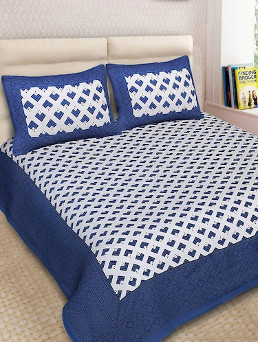 Cotton Printed Double Bedsheet With 2 Pillow Covers - 14893434 - Standard Image - 1