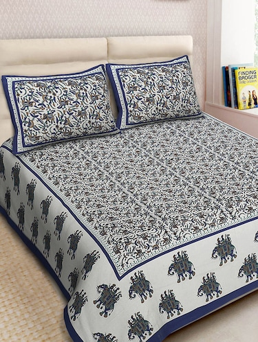 Cotton Printed Double Bedsheet With 2 Pillow Covers - 14893445 - Standard Image - 1