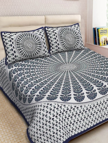 Cotton Printed Double Bedsheet With 2 Pillow Covers - 14893450 - Standard Image - 1