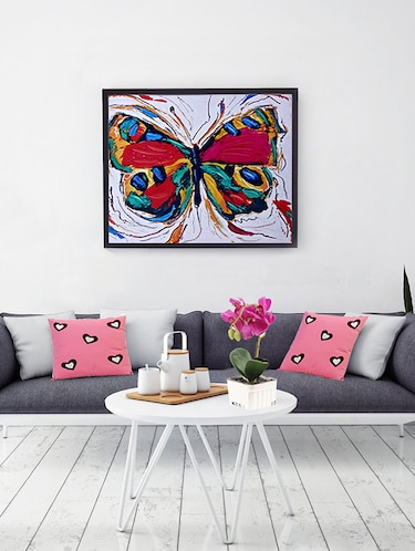8f0db14ab8d1 Color Splash Butterfly Canvas Painting - 14893949 - Standard Image - 1 ...