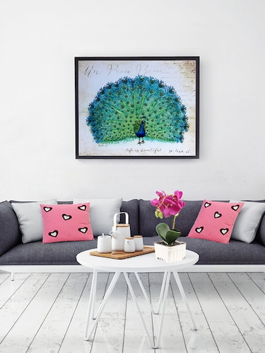 Dancing Peacock Canvas Painting - 14893950 - Standard Image - 1