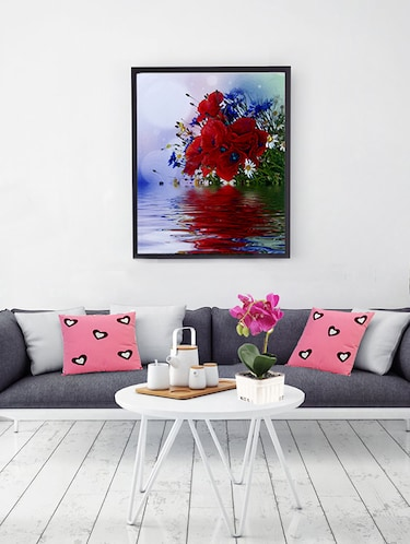 Bunch of Flowers Canvas Painting - 14893952 - Standard Image - 1