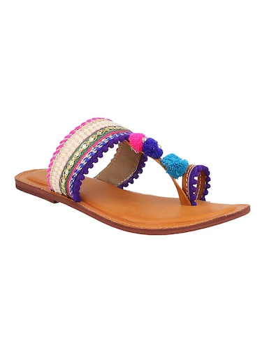 multi colored  toe separator  kolhapuri - 14894177 - Standard Image - 1