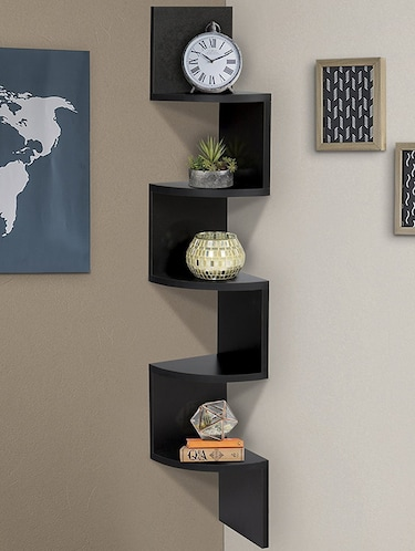 Buy Home Decor Zia Zag Wall Corner By Sunshine Wood   Online Shopping For  Wall Shelves In India   14894230