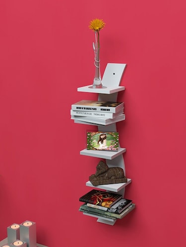 Mdf Floating Wall Shelf Rack Curve Shape 5 Tier - 14894251 - Standard Image - 1