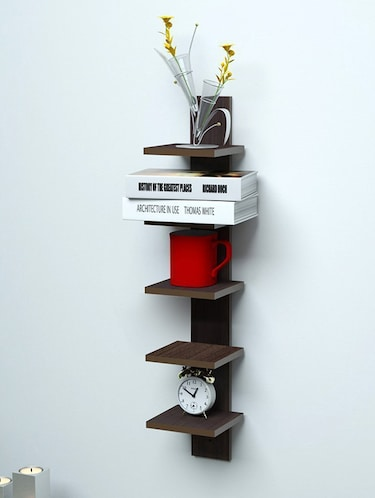 Mdf Floating Wall Shelf Rack Curve Shape 5 Tier - 14894254 - Standard Image - 1
