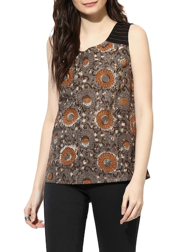 black cotton a line top - 14894729 - Standard Image - 1
