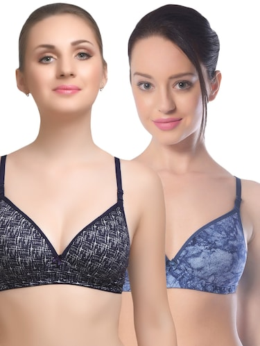 set of 2 multi colored cotton bra - 14894798 - Standard Image - 1