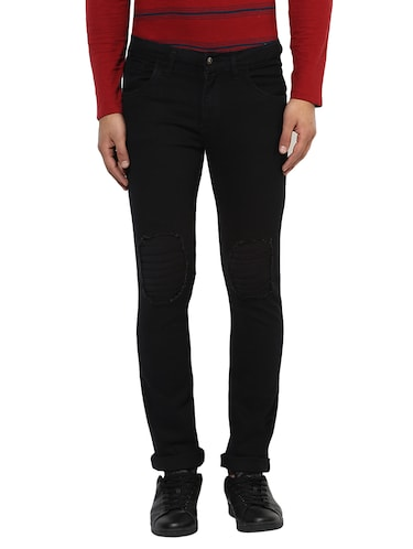 black denim plain jeans - 14895560 - Standard Image - 1