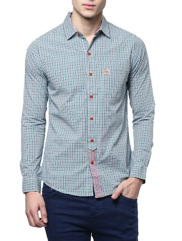 green cotton casual shirt - 14895760 - Standard Image - 1