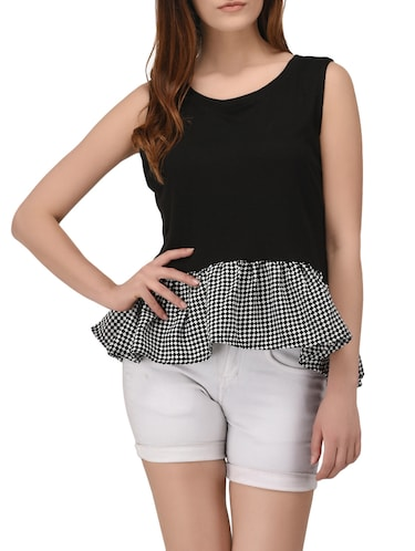 black printed cotton top - 14895786 - Standard Image - 1