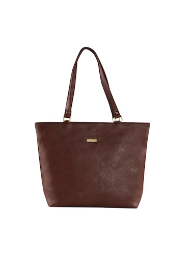 brown leatherette  regular handbag - 14895971 - Standard Image - 1