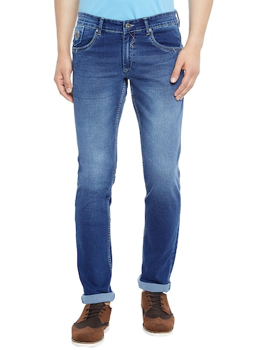 blue denim washed jeans - 14896159 - Standard Image - 1