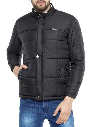 black polyester quilted jacket - 14896184 - Standard Image - 1
