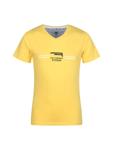 yellow cotton tshirt - 14896189 - Standard Image - 1