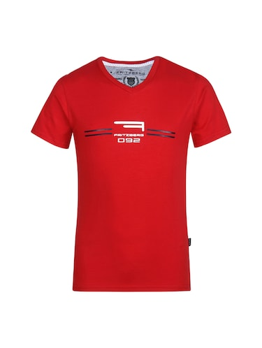 red cotton tshirt - 14896190 - Standard Image - 1