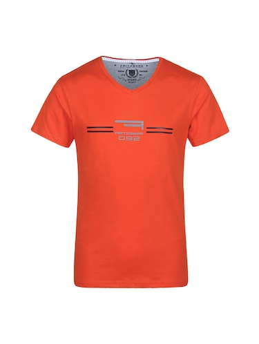 orange cotton t-shirt - 14896191 - Standard Image - 1