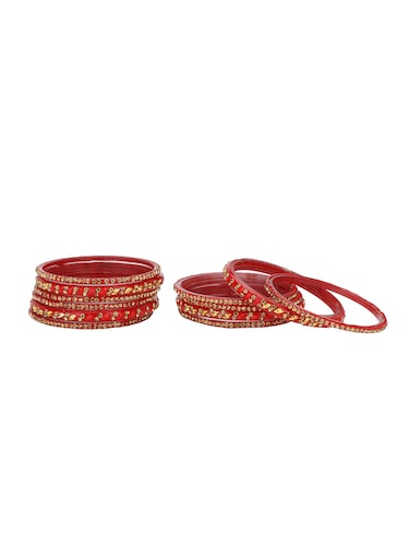red glass bangle - 14896346 - Standard Image - 1