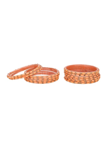 orange glass bangle - 14896357 - Standard Image - 1